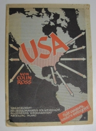 Tornisterschrift 77 - USA Colin Ross - anti Amerika - origineel 1943 Duits