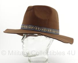 Heren hoed Bruin