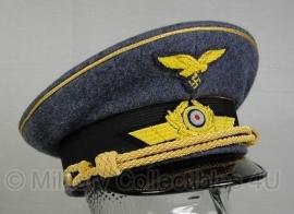 Luftwaffe schirmmütze - wol - generaals - maat 56 tm. 60 cm