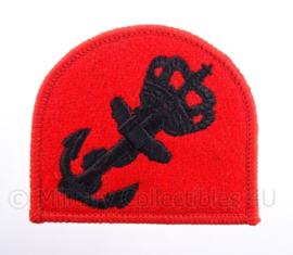 KM Koninklijke Marine, Korps Mariniers baret embleem - rood met anker - afmeting 7 x 6 cm