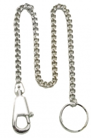 Zakmes ketting 44,5 cm. - vernickelt (zilverkleurig)