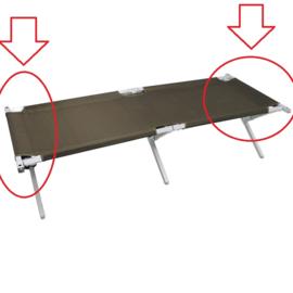 Eindstang voor leger veldbed (1x) - aluminium
