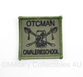 Defensie OTCMAN Cavalerieschool borst embleem - met klittenband - 5 x 5 cm - origineel