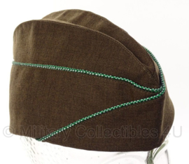 Overseas cap Garrison cap Green/White piping Armored units - 57 of 60 cm.
