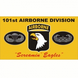 Vlag airborne 101st A/B Division - geel