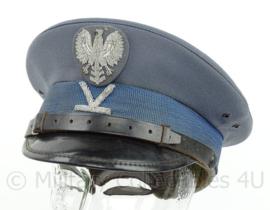 Poolse Politie pet - rangstrepen midden voor - maat 57 - origineel