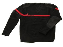Italiaanse Carabinieri wollen sweater - maat M tm. XL  - Zwart met rode streep - origineel
