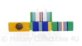 Nederlandse medaille baton met 4 medailles - HVN3/Trouwe Dienst/Marinemedaille/Cambodia - 8 x 2,5 cm - origineel
