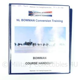 Koninklijke Marine en Korps Mariniers naslagwerk - Bowman Conversion training / handout Bowman Course - Bowman Course Handout - origineel