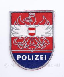 Oostenrijkse Polizei embleem met klittenband - huidig model - 9 x 6,5 cm - origineel