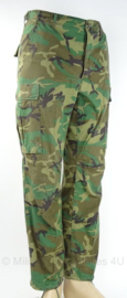 US Army BU trouser - POPLIN Woodland - vroege versie 1981 ripstof - maat S/regular - origineel