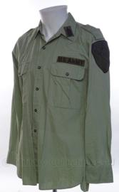 US Army Vietnam Cavalry overhemd - met originele insignes - maat S - origineel