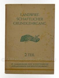 WO2 Duits Landwirtschaftlicher grundlehrgang boek - origineel