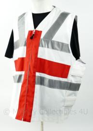 Britse Royal Navy vliegdekschip Surcoat Flight deck RN FR jack white with red stripes - one size - nieuw - origineel