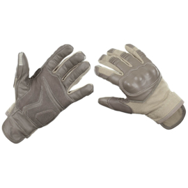 Tactical Gloves Coyote - Close Combat Glove Aramide met leder - MAAT 7 = SMALL - origineel Britse / Nederlandse leger