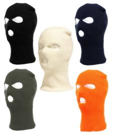 Bivakmuts 3-gaats comfort fit  - nu in 5 kleuren