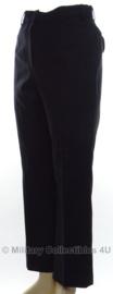 Britse zwarte wollen broek - size 12S (waist 71cm / inleg 74cm) - origineel