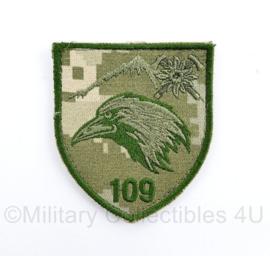 Oekraïense leger 109e eenheid embleem - met klittenband - 8 x 7  cm - origineel