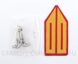 Defensie DT kraagspiegel ENKEL MA Militaire Academie - nieuw in de verpakking -  8,5 x 4 cm - origineel