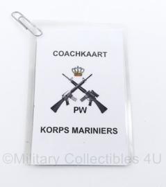 Korps Mariniers PW coach kaart set Platoon Weapons - origineel