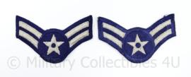 USAF US Air Force rang embleem paar  - Airman First class  - 10 x 6 cm - origineel