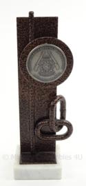 KM Marine Korps Mariniers schietvereniging onderscheiding - oud mariniers Groningen Drenthe - afmeting 22 x 6,5 x 6,5 cm - origineel