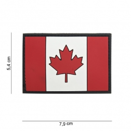 Uniform landsvlag Canada - Klittenband - 3D PVC - 7,9 x 5,4 cm