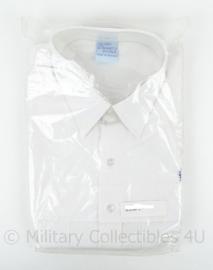 Belgische politie Wit overhemd met logo op borst - lange mouwen - maat 43 - nieuw in de verpakking - origineel