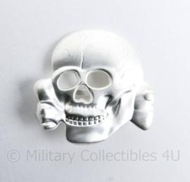 Pet Doodskop Totenkopf metaal Panzer & SS - helder zilver
