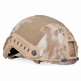 Fast Airsoft helm met rails en verstelbare hoofdband - nomad desert