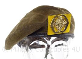 KL Koninklijke Landmacht baret met insigne bevoorrading en transport - DT 1963/2000 - maat 57 - origineel