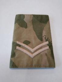 Britse leger MTP camo ENKEL schouderstuk - rang Corporal - nieuw in verpakking - origineel