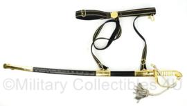 KM Koninklijke Marine officierssabel M1882 met draagstel en hoes - 100 cm - nieuw model - topstaat - maker WKC Solingen - origineel