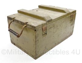 Vintage houten munitiekist jaren 50 - decoratief - 21 x 42 x 25 cm - origineel
