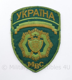 Oekraïens politie embleem MBC Ukraine Ykpaiha MBC Green - met klittenband - 13 x 9,5 cm - origineel
