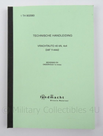 KL Landmacht Technische Handleiding DAF vrachtwagen 4x4 Y4442 - TH902083 - afmeting 21 x 15 cm - origineel