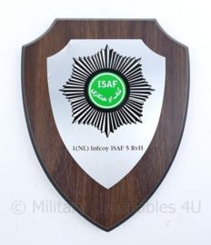 Wandbord Defensie Infcoy ISAF 5 RvH - 17,5x22,5x1,5cm - origineel