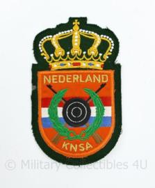 Nederland KNSA embleem - Koninklijke Nederlandse Schietsport Associatie - 14 x 8 cm - origineel