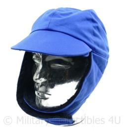KL Nederlandse leger burgerpersoneel wintermuts blauw - maat 59 of 61 cm - origineel