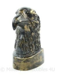 Zware bronzen wo2 Duitse  adelaarskop - 21 x 10,5 x 11,5 cm - 1,5 kg ! Origineel