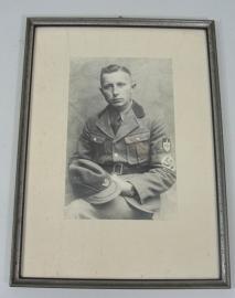 Fotolijst - groot formaat - met originele foto RAD soldaat
