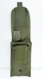 US en Defensie MSA paraclete double magazin pouch M4 M16 en Diemaco - groen MOLLE - 18,5 x 9 x 2 cm - origineel