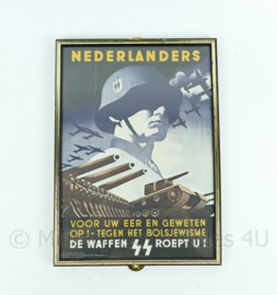 Replica Wo2 Duits pamflet in Lijst voor Nederlandse Waffen SS vrijwilligers - 31x22 cm