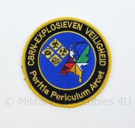 KL Nederlandse Leger CBRN Explosieven Veiligheid Peritia Periculum Arcet embleem - met klittenband - diameter 9 cm