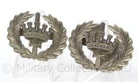Nederlandse Gemeentepolitie rang voor epauletten - rang Brigadier - afmeting 4 x 3 cm - origineel