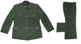 Duitse groene BGS uniform jas met broek SET - maat Small - origineel