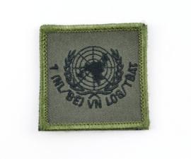 KL Nederlandse leger 1 NL/BE VN Transportbataljon borstembleem - met klittenband - 5 x 5 cm - origineel