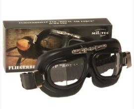 Piloten bril of brommer bril - Black - echt metalen frame