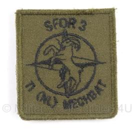 KL Borst embleem SFOR 3, 11(NL) Mech Battallion - 5 x 4,5 cm - origineel