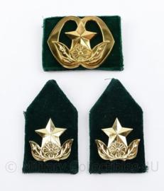 Defensie baret en kraag insigne set Humanistisch Raadsman of vrouw - 3 delige set - origineel